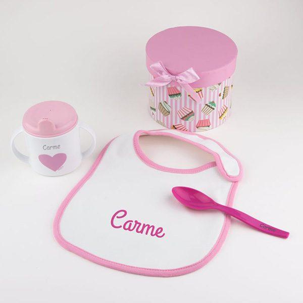 cajita-a-comer-rosa-personalizada