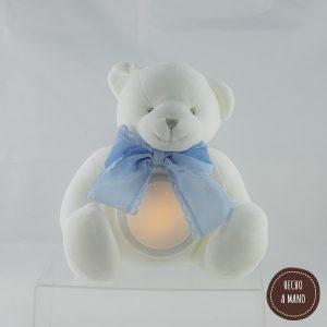 osito-lámpara-blanco-lazo-azul-personalizado