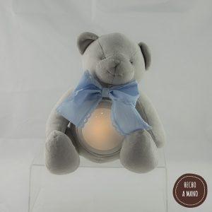 osito-lampara-gris-lazo-azul-personalizado
