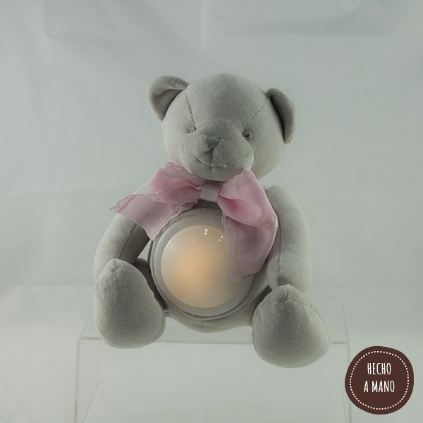 osito-lampara-gris-lazo-rosa-personalizado