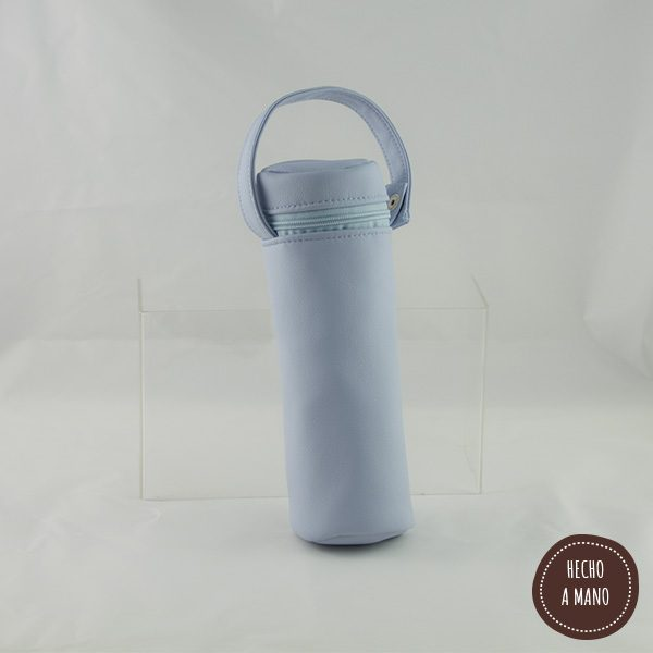 portabiberon-azul-bebe-piel-hecha-a-mano