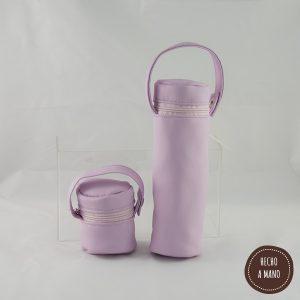 portabiberon-portachupetes-rosa-bebe-piel-hecha-a-mano