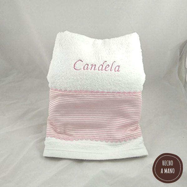 toalla-blanca-rayas-rosa