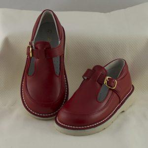 zapato-hebilla-unisex-rojo