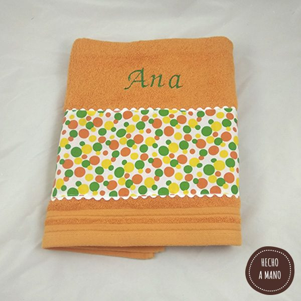 toalla-naranja-circulos